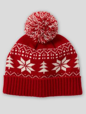 Nordic Knit Pom-Pom Hat