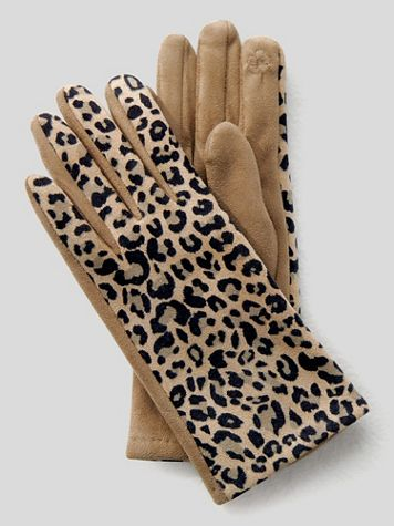 Leopard Print Gloves - Image 1 of 1