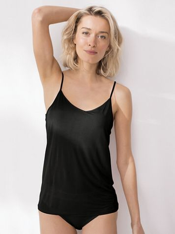 V-Neck Silk-Knit Camisole