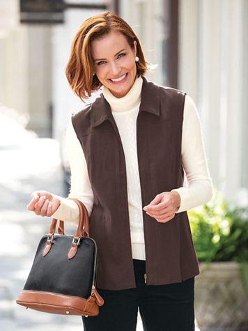 Koret Suedecloth Zip Front Vest - Image 1 of 4