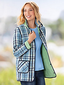 Reversible Plaid Quilted Barn Jacket