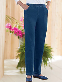 Pull-On Denim Pants by Koret®