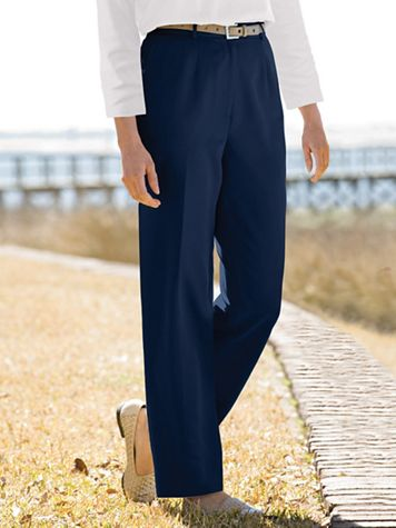 Microfiber Fly-Front Pants - Image 1 of 2