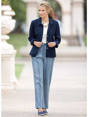 Crinkle Pull-On Travel Pants - Image 1 of 3