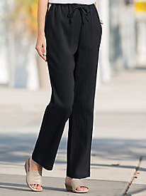 Crinkle Pull-On Travel Pants