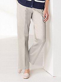 Classic Twill Pull-on Pants by Alfred Dunner