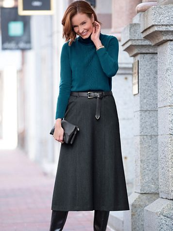 Washable Gabardine Skirt - Image 1 of 9