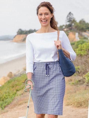 Print Everday Knit Skort