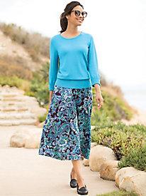 Reversible Paisley Floral Skirt