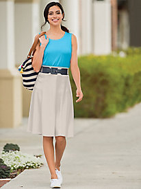 Everyday Knit Knee Length Skirt