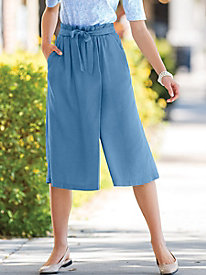 Tencel Split Denim Skirt