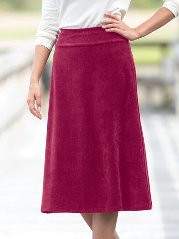 Corded Velour Skirt - Image 1 of 6