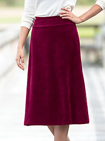 Corded Velour Skirt