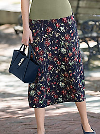 Autumn Floral Flared Skirt