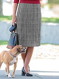 Pleated Glen Plaid Skirt