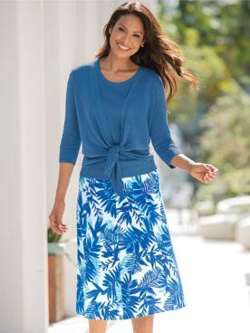 Mystic Breeze Print Skirt