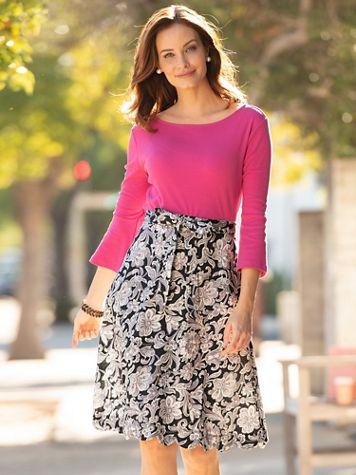 Scalloped Hem Skirt