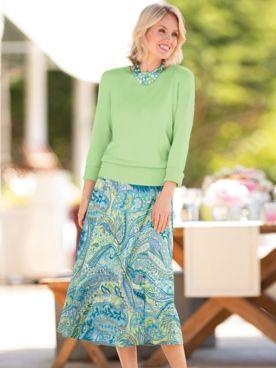 Reversible Print Skirt