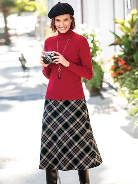 Bias Plaid Skirt