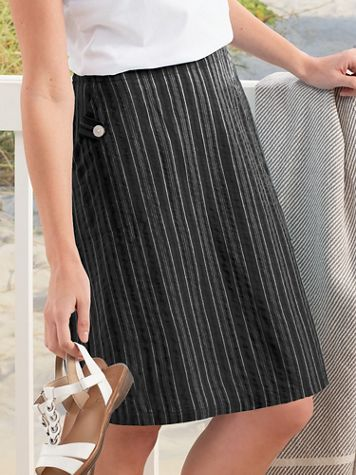 Seersucker Stripe Skirt - Image 1 of 1