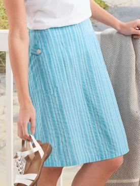 Seersucker Stripe Skirt