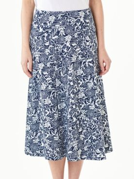 Everyday Knit Print Long Skirt