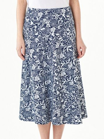 Everyday Knit Print Long Skirt - Image 4 of 4