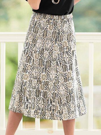 Batik-Block Crinkle Skirt - Image 1 of 7