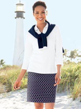 Rafaella® Medallion Geo Knit Skort