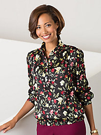 Fall Floral Blouse