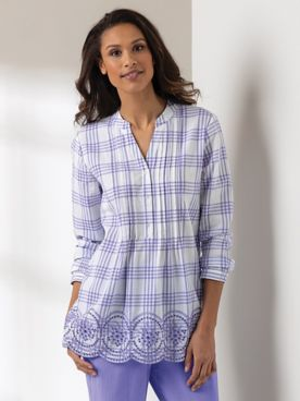 Eyelet Plaid Mojave Tunic