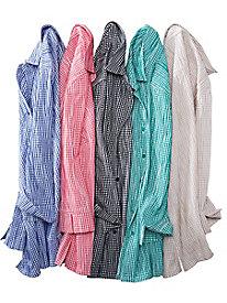 Crinkle Gingham Shirt