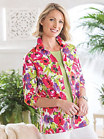 Perennial Floral Button Up Shirt by Koret