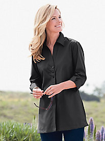 Foxcroft Button Front Tunic
