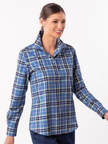 Foxcroft® Non-Iron Newport Plaid Shirt - Image 3 of 3