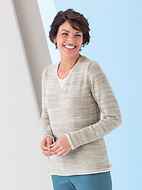 Relaxed Linen-Look Sweater