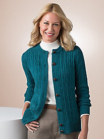 Rainbow Donegal Cable Cardigan