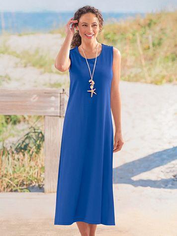 Boardwalk Sleeveless Maxi Knit Dress - Image 1 of 7