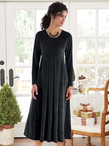 Knit Velvet Dress - Image 2 of 2