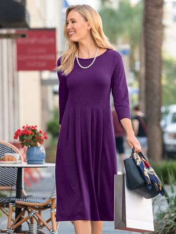 Three-Quarter Sleeve Bistro Dress - Image 1 of 2