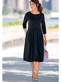 Three-Quarter Sleeve Bistro Dress by Appleseed's