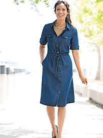 Tencel® Denim Shirtdress