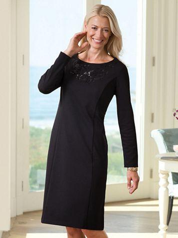 Embellished Ponte Dress - Image 3 of 3