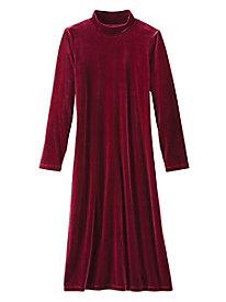 Knit Velvet Mockneck Dress