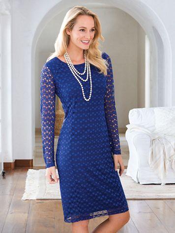 Knit Lace Dress - Image 1 of 2