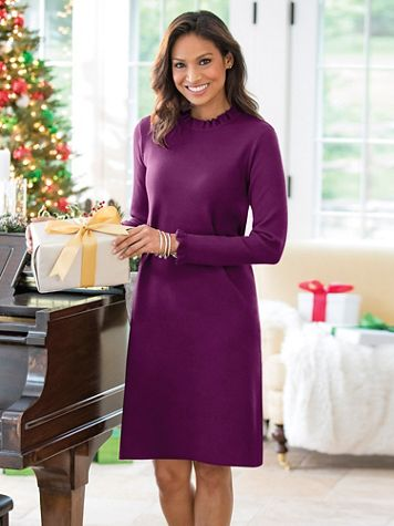 Ruffle Sweater Dress - Image 1 of 2