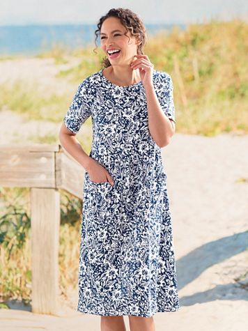 Boardwalk Two Pocket Print Dress