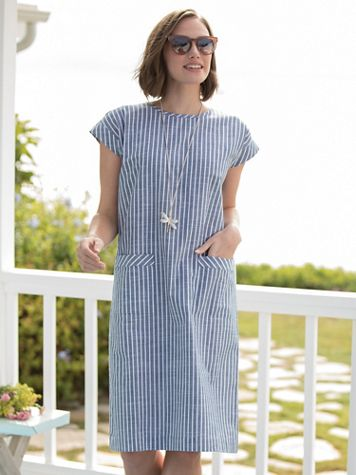 Striped Shift Dress - Image 2 of 2