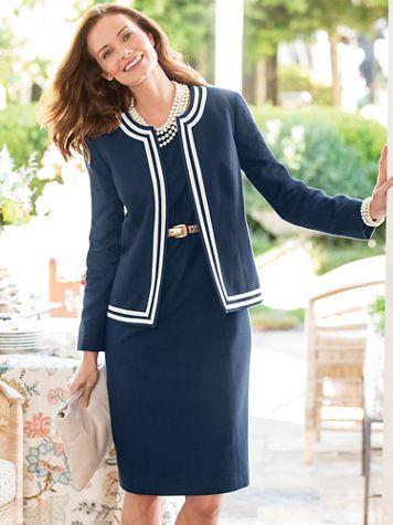 Tipped Jacket Dress - Image 1 of 6