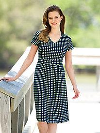Modern Check Jersey Dress